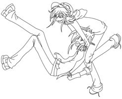 Vlad and Harvey Line Art 1 by The-Silent-Angel