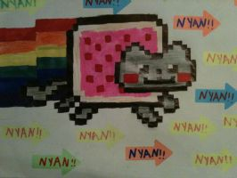 Drawn Nyan Cat by SoulEaterRagnorok
