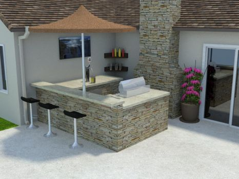 New Outdoor Kitchen for A Home by Poopgoblyn