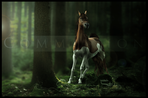 COMMISSION: Nestled Behind the Trees by BlueHorseStudios