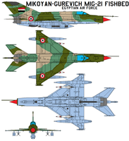 Mikoyan MiG-21 Fishbed EAF by bagera3005
