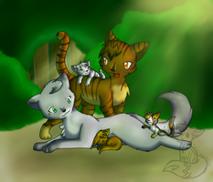Dove x Tiger Happy Family by CrispyCh0colate