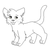 Kitten lineart by Piratewarriorcat