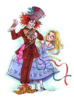 burton's alice and hatter by briannacherrygarcia