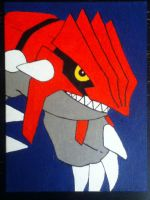 Groudon painting by TheScarecrowOfNorway