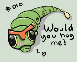 #010 Caterpie by Ginace