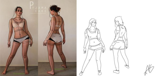 Sketch positions by LaLilBessy