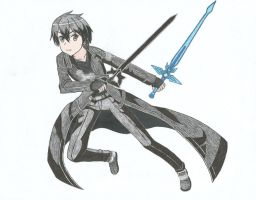 Kirito (Sword Art Online) v2 by Hahc3Shadow