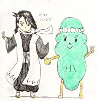 Bya-kun and Wakame-taishi:Best Friends by PeachBerryDivision