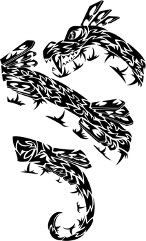 Commission: Tribal Snake Sleeve by white-tigress-12158