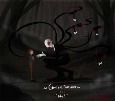 Slenderman And 5 Kid by tmntffnyp