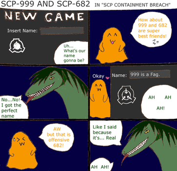 SCP 999 and SCP 682 in SCP Containment Breach by BalckScream
