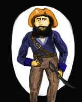 Blackbeard the Pirate by DungeonWarden