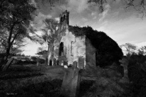 The Ruined Church by Nigel-Hirst