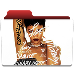 rihanna unapologetic folder ico and png by vchawla