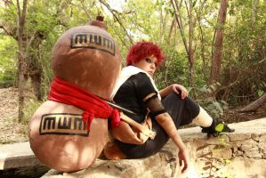 Gaara cosplay: A glare colder than death itself by Ela-Towerxz
