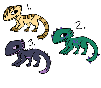 cute gecko adopt thingies (OPEN) by Internal-Poison