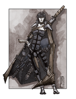 Dark Heresy RPG Commission: Assassin Dullahan by dForrest