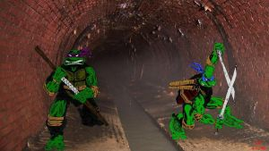 TMNT sewer by Icecat13
