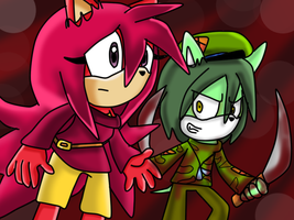 flaky and flippy sonic by gisselle50