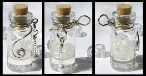 Winters Tears Bottle Pendant by GeneveveX