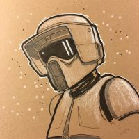 Scout Trooper by Pencilbags