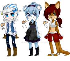 adoptables famale [cerrados] by Asamy753