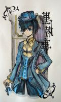 Ciel watercolour by paper-and-stars