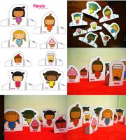 Pigtails Paper dolls by jazgirl
