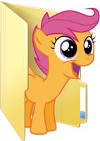 Custom Scootaloo folder icon by Blues27Xx