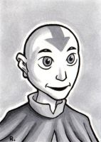 Aang Sketchcard by TheRigger