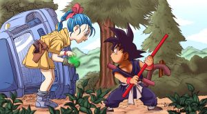 goku and bulma by ilyesgnei