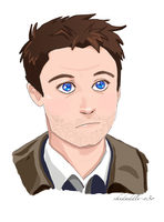 Castiel Sketch 6-15-14 (tumblr) by kuri-osity