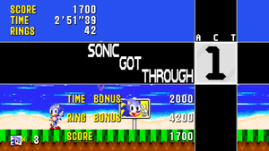 Sonic and Tails - Mock Up 'Post Level Score Tally' by MrLevRocks