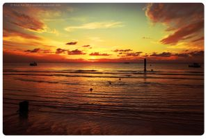 Moreton Island sunset by sharvani