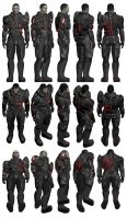 Mass Effect, Spectre Armour, Male Ref. by Troodon80