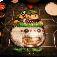 Bowser Jr. bead sprite by moonstrider02