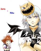 Riku and Sora by MiniRoxasChan