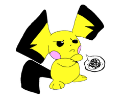 Disapproving Pichu. by HappyAggro