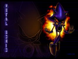 Metal Sonic wallpaper by NetRaptor