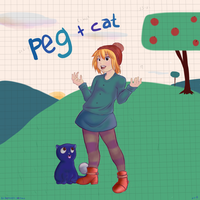 Peg + Cat by condemnedcartoon