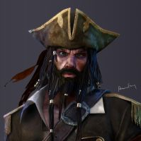 Pirate gameRez shot close-up by aaronfang-art