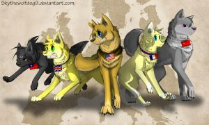 The Allies -Redraw and Speedpaint- by Skythewolfdog9