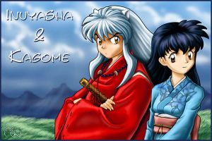 Inuyasha and Kagome by Pookinator
