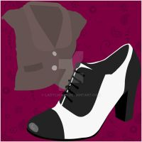 Oxfords and Vest by LadyLuck89