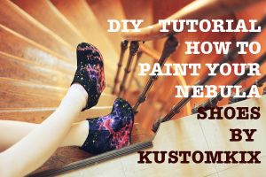 DIY video - How to paint nebula shoes by AlexandraSophie