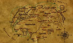 Black Dragon Trading Trade Routes Map by DovahFahliil