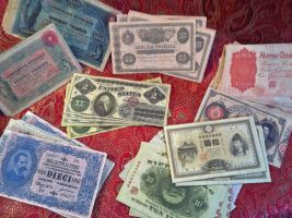 Assorted Reproduction Banknotes by OttotheConfused
