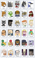 30 Characters in 30 Days COMPLETED by EadgeArt