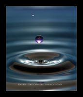 Droplet in Blue by DaFotoGuy